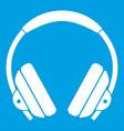 Headphone icon white vector image