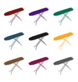 ironing board dry cleaning single icon in black vector image
