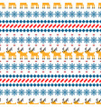 nordic sweater seamless pattern with deer vector image