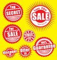 Sale stickers vector image