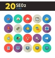 SEO 2 icons on colored round buttons vector image