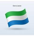 Sierra Leone flag waving form vector image