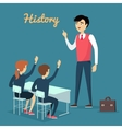 Subject of History Education Conceptual Banner vector image