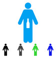 wc man flat icon vector image