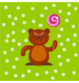 bear with candy at field vector image