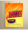 happy diwali festival greeting with diwali and vector image