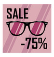 beautiful glasses on the background of purple vector image