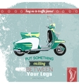 Hipster scooter poster vector image