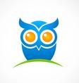 bird owl hand drawn logo vector image