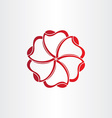 red hearts in circle icon vector image