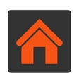 Home flat orange and gray colors rounded button vector image