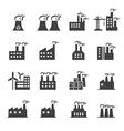 Industrial building icon vector image vector image