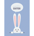 Happy Easter with white rabbit vector image