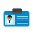 Doctor id vector image