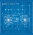 blueprint plan outline draft motorbike motorcycle vector image