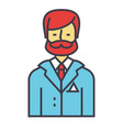businessman business lawyer law legal adviser vector image