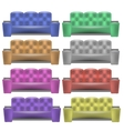 Colorful Leather Comfortable Soft Sofa vector image