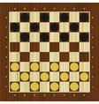 Draughts checker board vector image