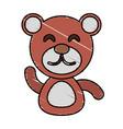 draw bear animal comic vector image