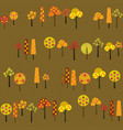 fruit trees in harvest time texture with various vector image