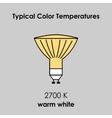 Halogen light yellow bulb vector image