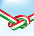 italian ribbon flag on background vector image
