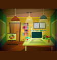 office room retro cartoon vector image