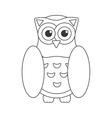 Owl bird flat icon wisdom symbol vector image