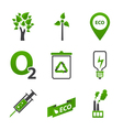 Set of ecology icons vector image