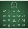 valentines day hand drawn doodle icon set vector image