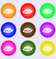 eyelashes icon sign Big set of colorful diverse vector image