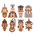 Tribal ethnic mask icons vector image vector image