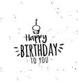 Happy birthday background vector image