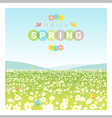 Hello spring landscape background vector image