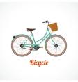 Vintage bicycle symbol vector image
