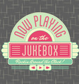 1950s Jukebox Style Logo Design vector image