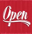 retro open sign vector image