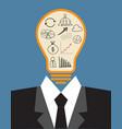 lightbulb idea concept vector image