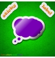 Speech bubble icon sign Symbol chic colored sticky vector image
