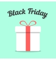 black friday and white gift box vector image