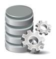 Settings Database vector image