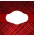 tartan red vintage card vector image vector image