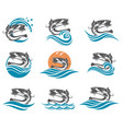 catfish set vector image