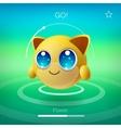Cute animal emoji with big eyes cartoon character vector image