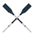 icon of boat oars vector image
