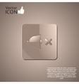 No Sound Symbol as a Button vector image
