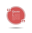 Quote empty text bubble Frame ball is round vector image