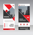 Red Business Roll Up Banner flat design templates vector image