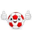 Soccer football character vector image