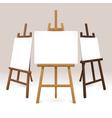 Wooden Easel Set vector image vector image